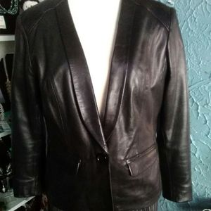 Pre-owned Michael Kors Leather Jacket